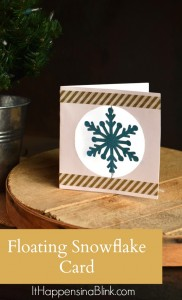 Floating Snowflake Card | ItHappensinaBlink.com | Make a hand made Christmas card with a floating snowflake addition