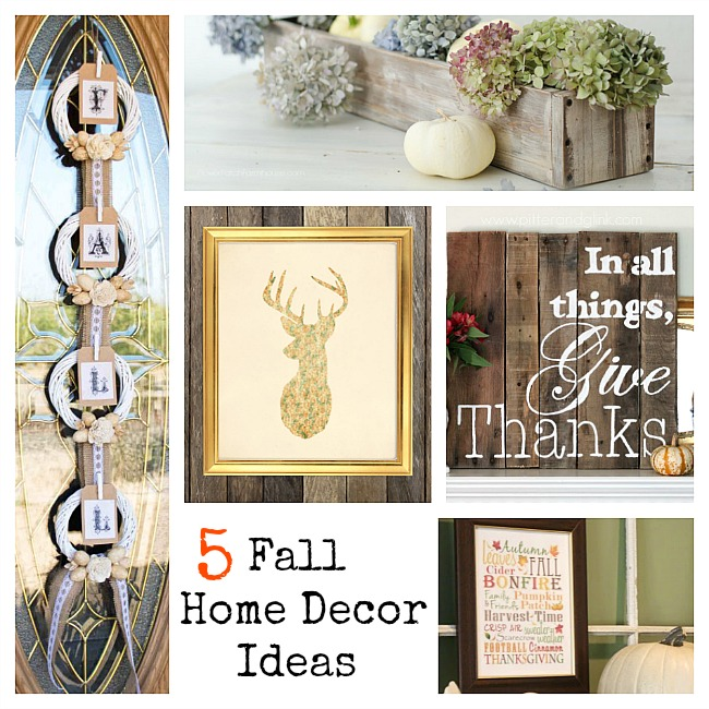 5 Fall Home Decor Ideas