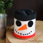 Yarn Wrapped Snowman Tin