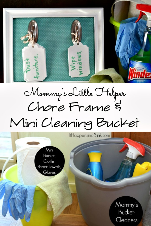 Mommy's Little Helper Chore Frame and Mini Cleaning Bucket #InstaClean #shop #CollectiveBias
