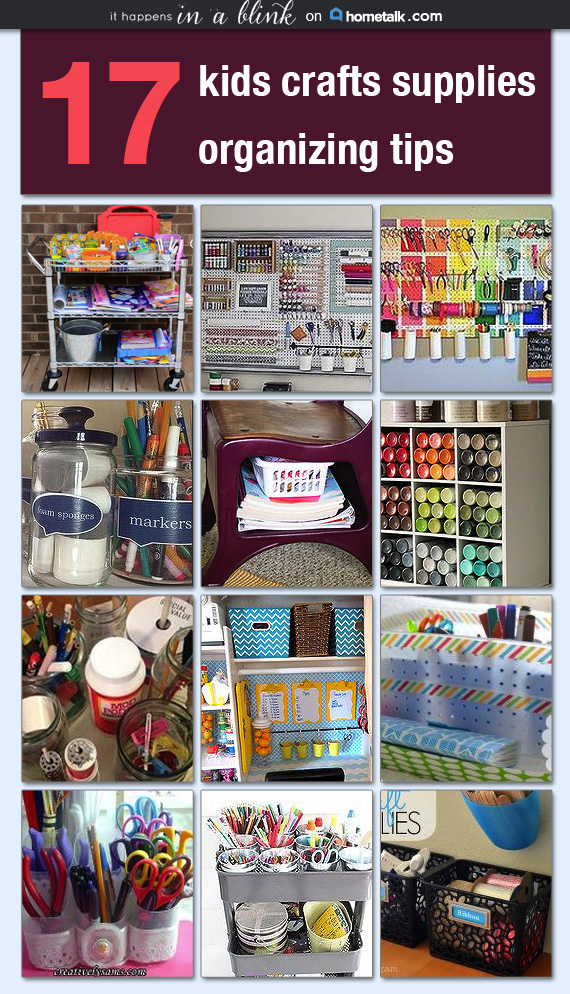 17 Kids' Craft Supplies Organization Tips |  A curated board on Hometalk