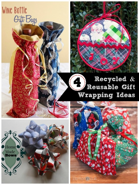 4 Recycled & Reusable Gift Wrapping Ideas
