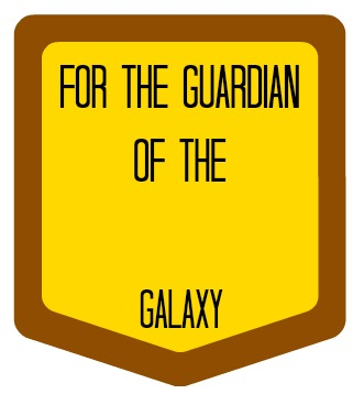 Build a Guardians of the Galaxy Gift Tag |  ItHappensinaBlink.com  |  #OwnTheGalaxy #Ad |  Combine Guardians of the Galaxy items with themed colors to create a fun gift basket!