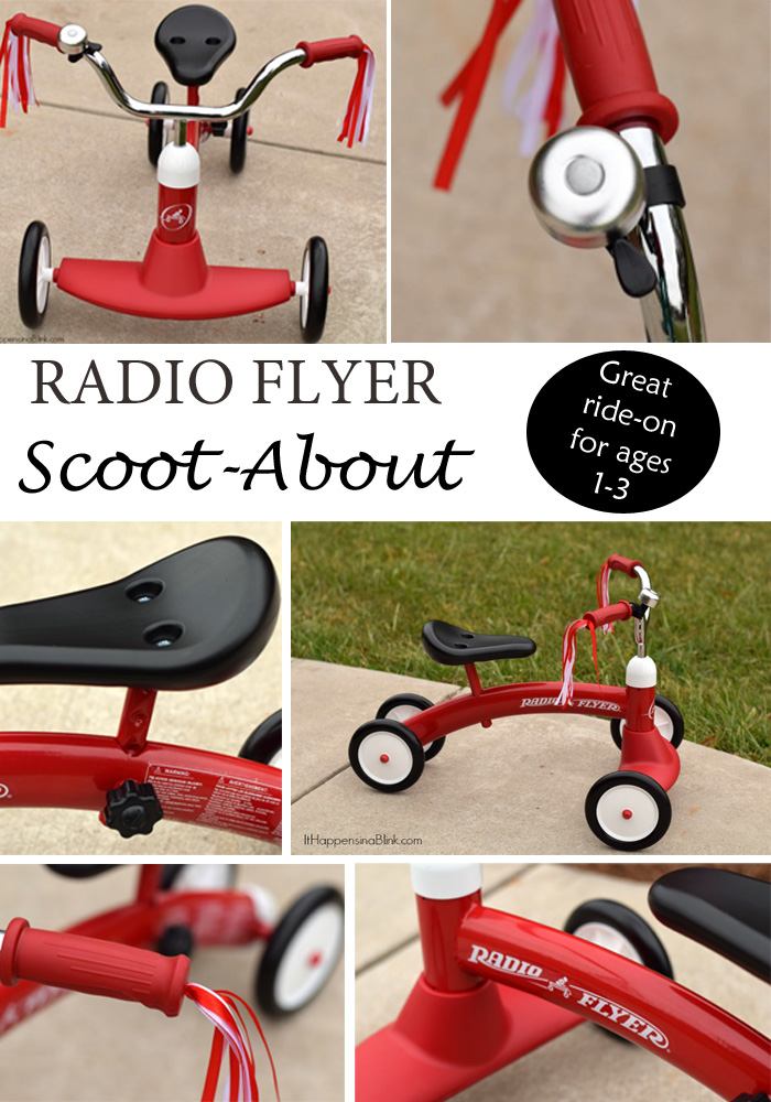 The Radio Flyer Scoot-About | ItHappensinaBlink.com | Read this full review of the Radio Flyer Scoot-About, a great ride on for kids ages 1-3