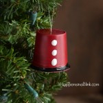 Recycled K-Cup® Santa Ornament