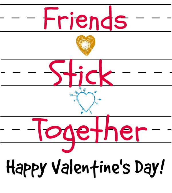 Friends Stick Together Printables   |  Make this easy kid's sticker craft to give to friends. Choose between a non-themed printable, a Valentine's Day themed printable, and a Bible verse printable. The Bible verse printable features Proverbs 18:24.