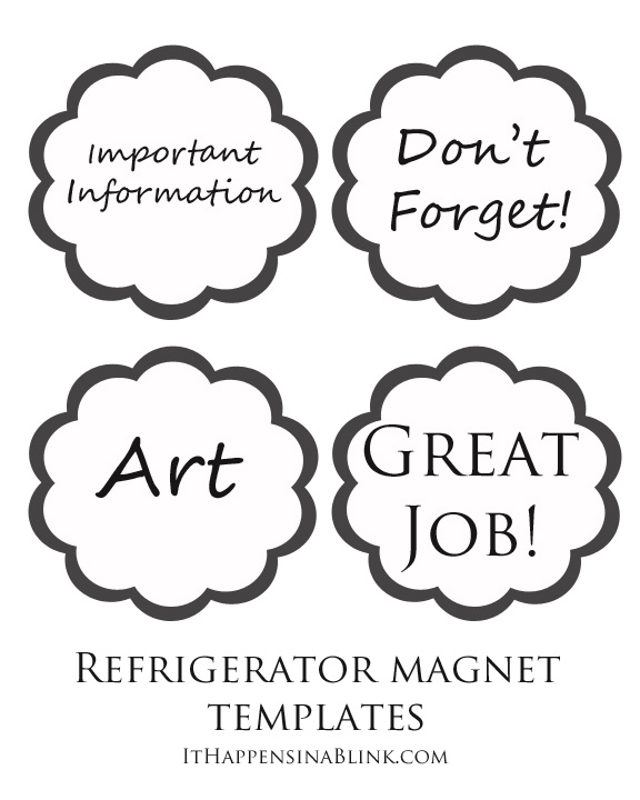 Easy DIY Refrigerator Magnets  |  Get a free template for printing refrigerator magnets