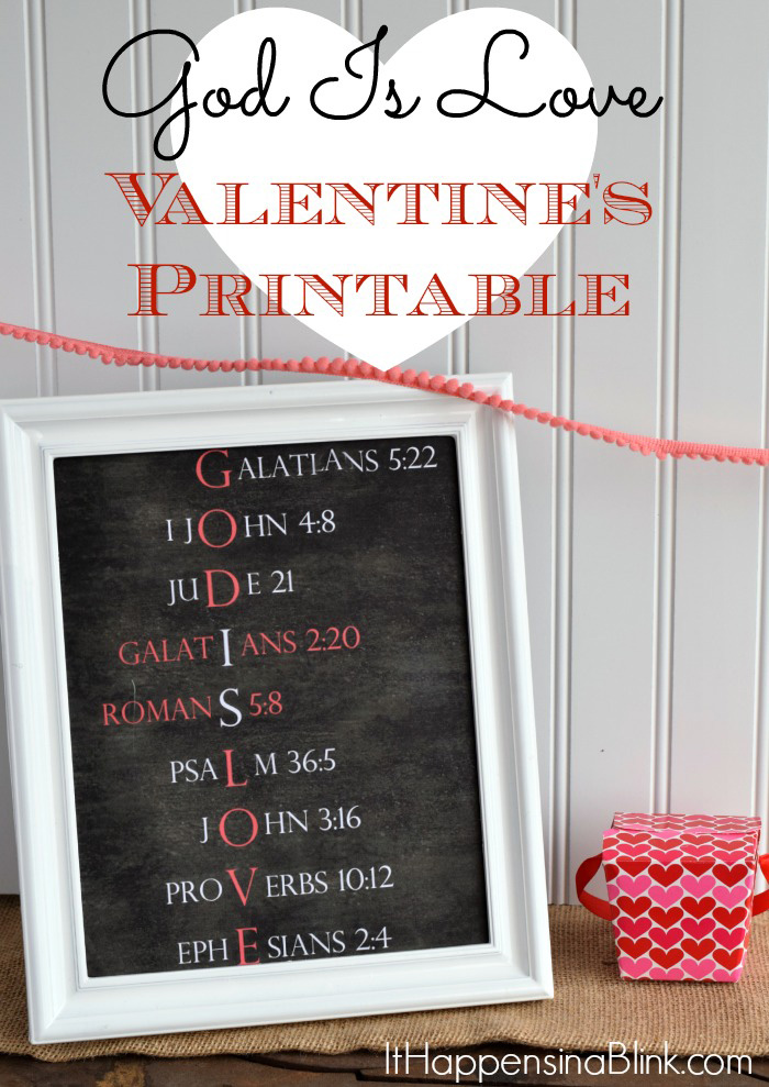 God Is Love Valentine's Day Printable