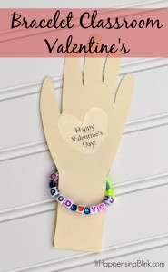 Bracelet Classroom Valentines | Make a non-candy Valentine for kid or preschool classroom Valentine's Day parties. Easy craft that even kids themselves can do.