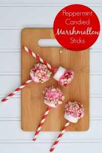 Peppermint Candied Marshmallow Sticks | Make a sweet Valentine's Day treat with just a few ingredients