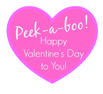 Peek-a-Boo Valentine's Day Mason Jars | Includes tutorial and free printable to make this easy Valentine's Day craft