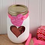 Peek-a-Boo Valentine's Day Mason Jar