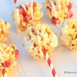 Candied Popcorn Ball Sticks