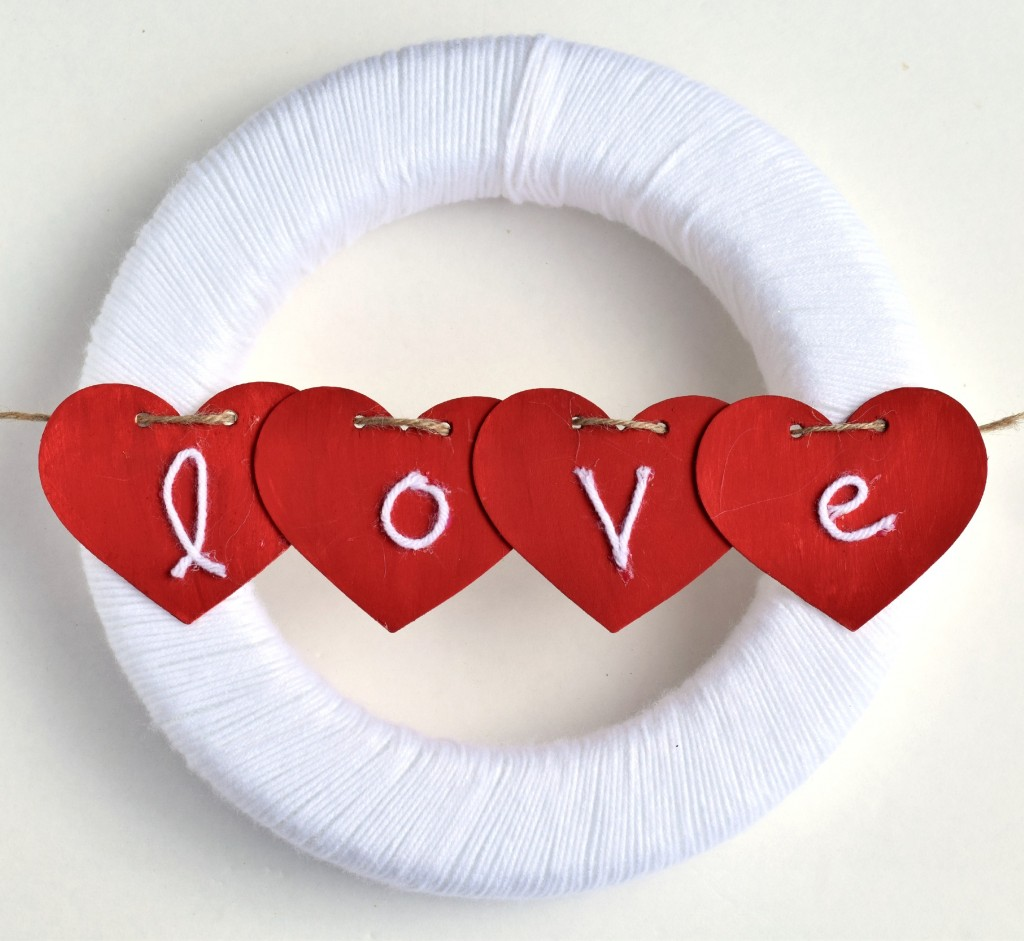 Yarn Wrapped Valentine's Wreath Tutorial