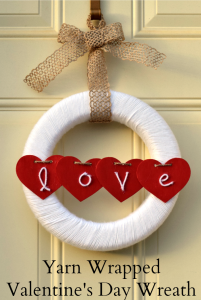 Yarn Wrapped Valentine's Day Wreath | Use yarn to create a festive Valentine's Day Wreath