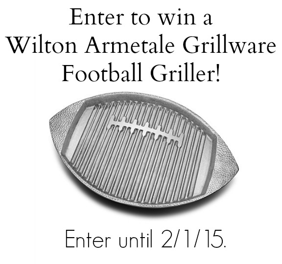 Enter to win a Wilton Armetale Grillware Football Griller