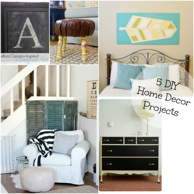 5 diy home decor projects and the project stash. Black Bedroom Furniture Sets. Home Design Ideas