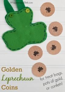 Golden Leprechaun Coins | With PSA Essentials Stamps