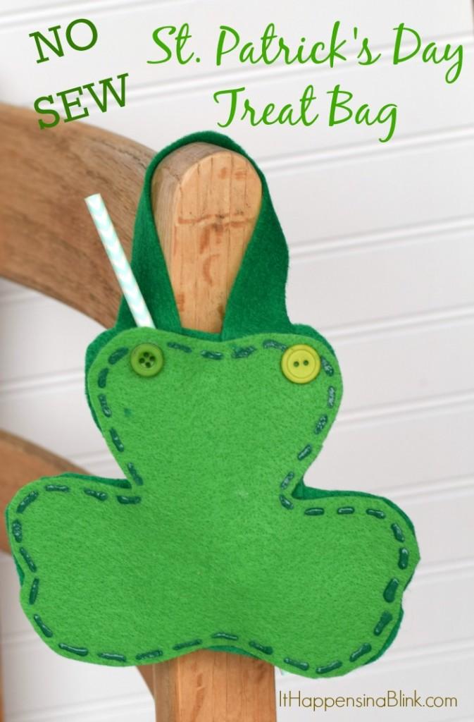 No Sew St. Patrick's Day Treat Bag
