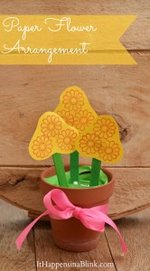 Paper Flower Arrangement with PSA Essentials Stamps