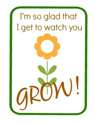 """Growing"" Themed Kid's Gift  