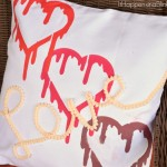 Stenciled LOVE Pillow