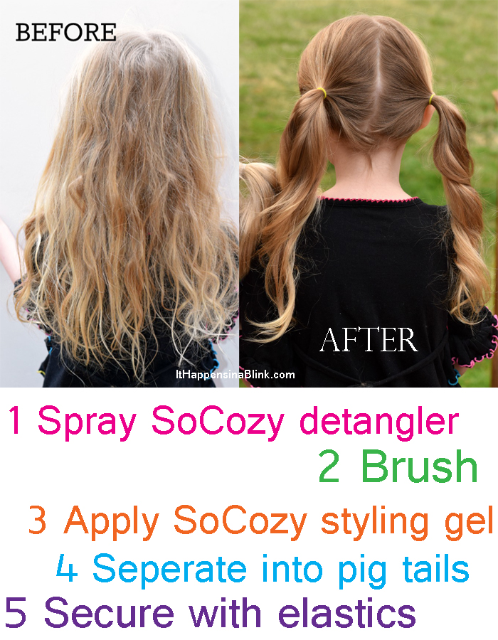 Creating a Kid's Hair Care Caddy and a SoCozy Kid's Hair Care Products Review ad