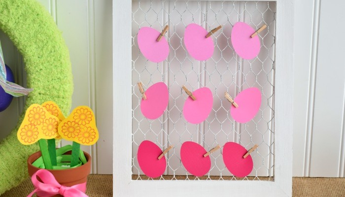 Chicken Wire Easter Decor | #sponsored | Create easy Easter Decor in 10 minutes. Includes video tutorial
