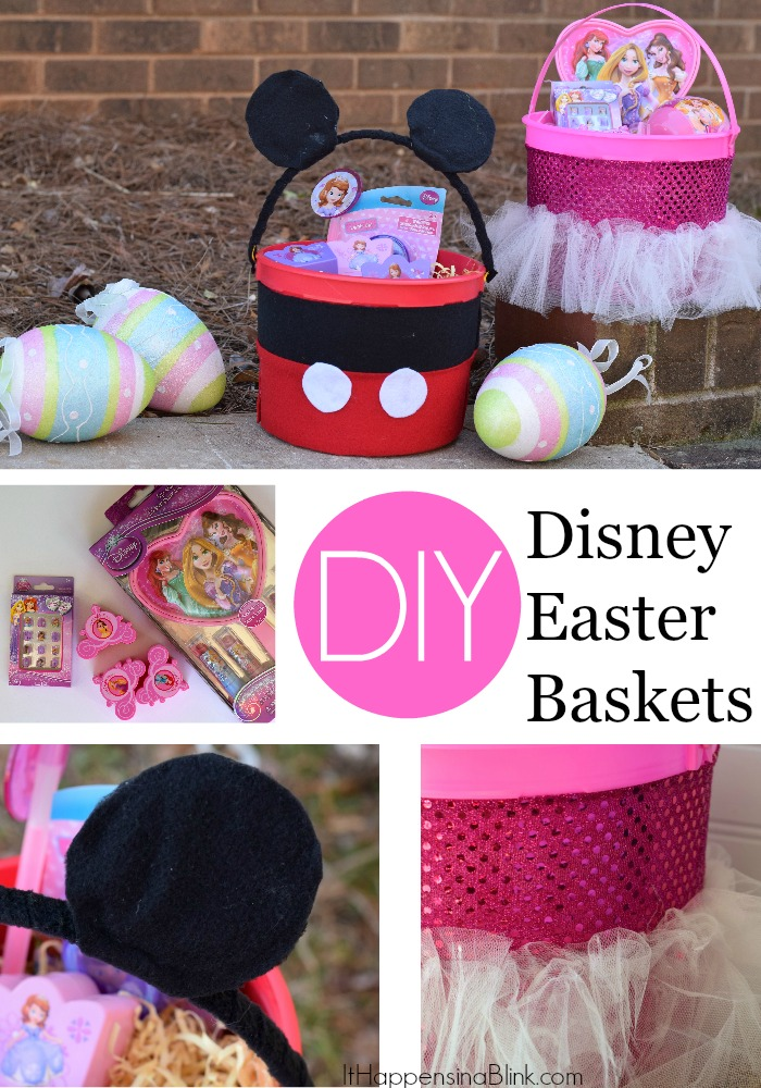 DIY Disney Easter Baskets |  #sponsored #DisneyEaster