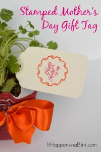 Stamped Mother's Day Gift Tag