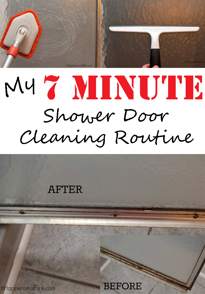 My 7 Minute Shower Door Cleaning Routine #ad