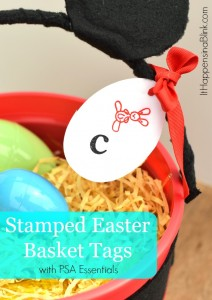 Stamped Easter Basket Tags with PSA Essentials