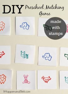 DIY Preschool Matching Game with PSA Essentials Stamps