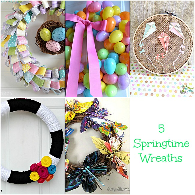 5 Spring Wreaths at The Project Stash link party