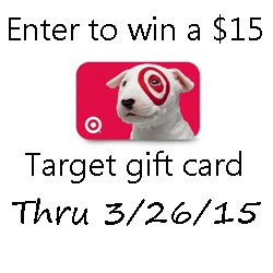 $15 Target Gift Card Giveaway through 3/26/15