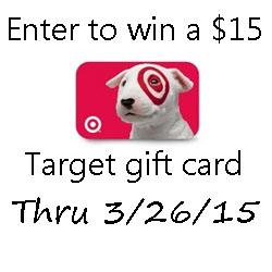 $15 Target Gift Card Giveaway through 3/26/15
