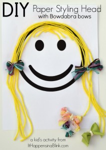 DIY Paper Styling Head Kid's Craft