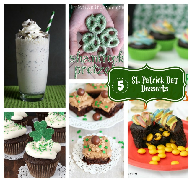 5 St. Patrick's Day Desserts featured at The Project Stash Link Party