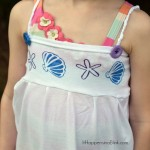 T-shirt to Swim Cover Up Refashion