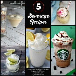 5 Beverage Recipe feature at The Project Stash link party