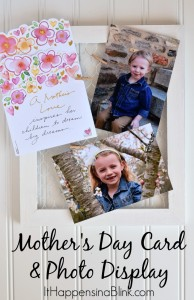 Mother's Day Card and Photo Display | #BestMomsDayEver #ad | Use a chicken wire frame to make an easy DIY card and photo display for a Mother's Day gift