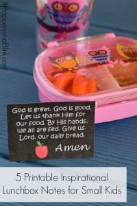 Printable Inspirational Lunchbox Notes for Small Kids