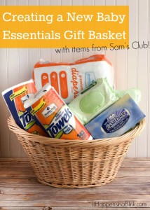 Create a New Baby Essentials Gift Basket | #ad #SamsClubMag | Buy items in bulk to create a gift basket for a new mom filled with things for family and home!