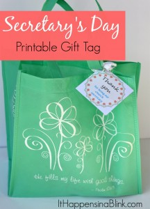 Secretary's Day Printable Gift Tag