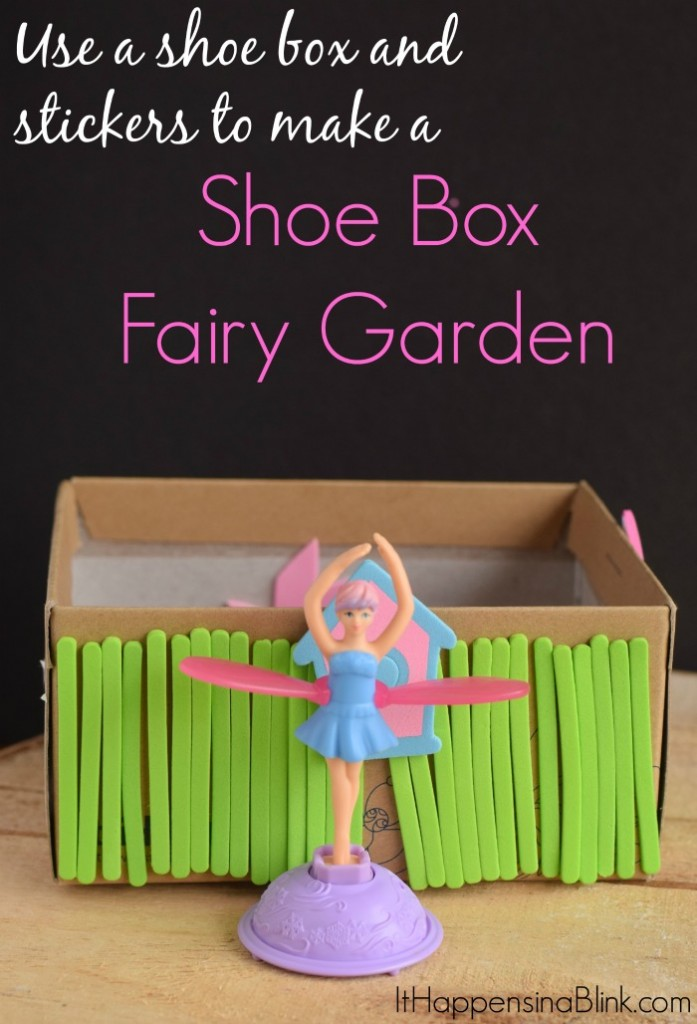 Make a Shoe Box Fairy Garden  |  Use a few basic craft supplies and other recycled elements to create a Fairy Garden. This is a great kid's craft.