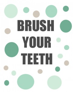 Brush Your Teeth Printables | #ad