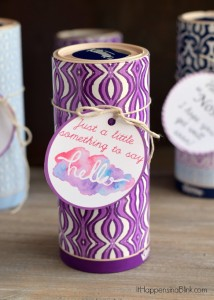 Kleenex Gift Giving Printables | #ad | Need a quick, easy, and inexpensive idea for simple gift idea to give someone who is in the hospital, sick, or bereaved? These Tissue Box Printables tie to a tissue box for easy giving.