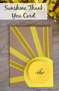 Sunshine Thank You Card | Use card stock and washi tape to create an easy DIY thank you card