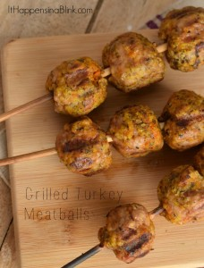 Grilled Turkey Meatballs | #ad | Great recipe for Memorial Day or Fourth of July. Grill out turkey instead of beef!