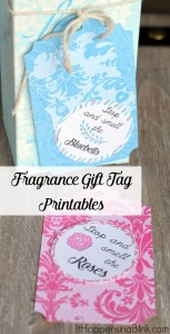 Fragrance Printable Gift Tags | #ad #L2LMom | Printable gift tags for floral fragrances